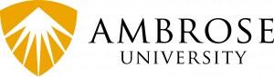 Ambrose University Logo H PMS 124